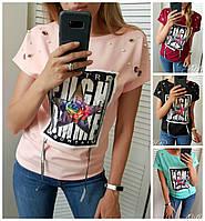 Женская футболка принт Звезда Норма 16550-2, фото 1