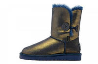 Натуральные угги UGG Australia (Угги Оригинал) Bailey Button Metallic Blue/Gold.  Model: 582