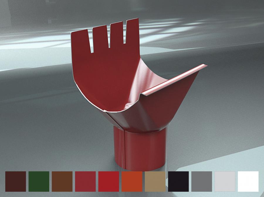 Лійка Raiko 125/90 мідний металік
