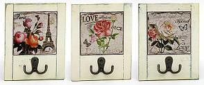 Вешалка с двойным крючком Roses 18см, 3 вида 487-108