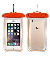 """Водонепроницаемый светящийся чехол для смартфона до 5.8"""" дюймов Neon Orange"""