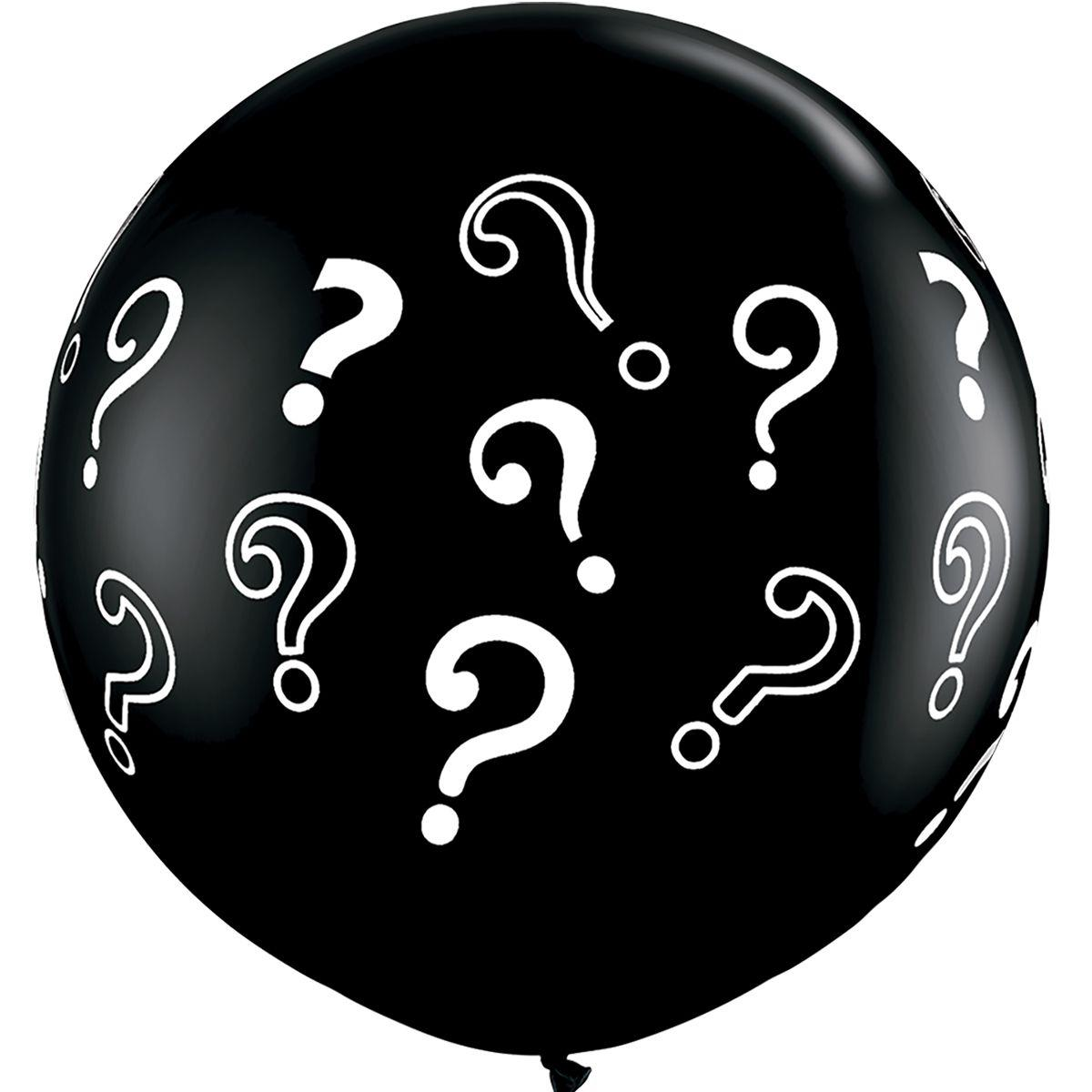 Воздушный шар Вопросительные знаки 80 см с наполнением