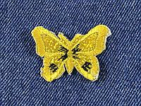 Нашивка Бабочка люрекс 45x35 мм