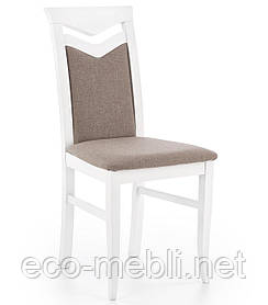 Дерев'яне крісло на кухню Citrone biały Halmar