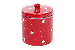 Банку керамічна 950мл з кришкою, колір - червоний 795-308