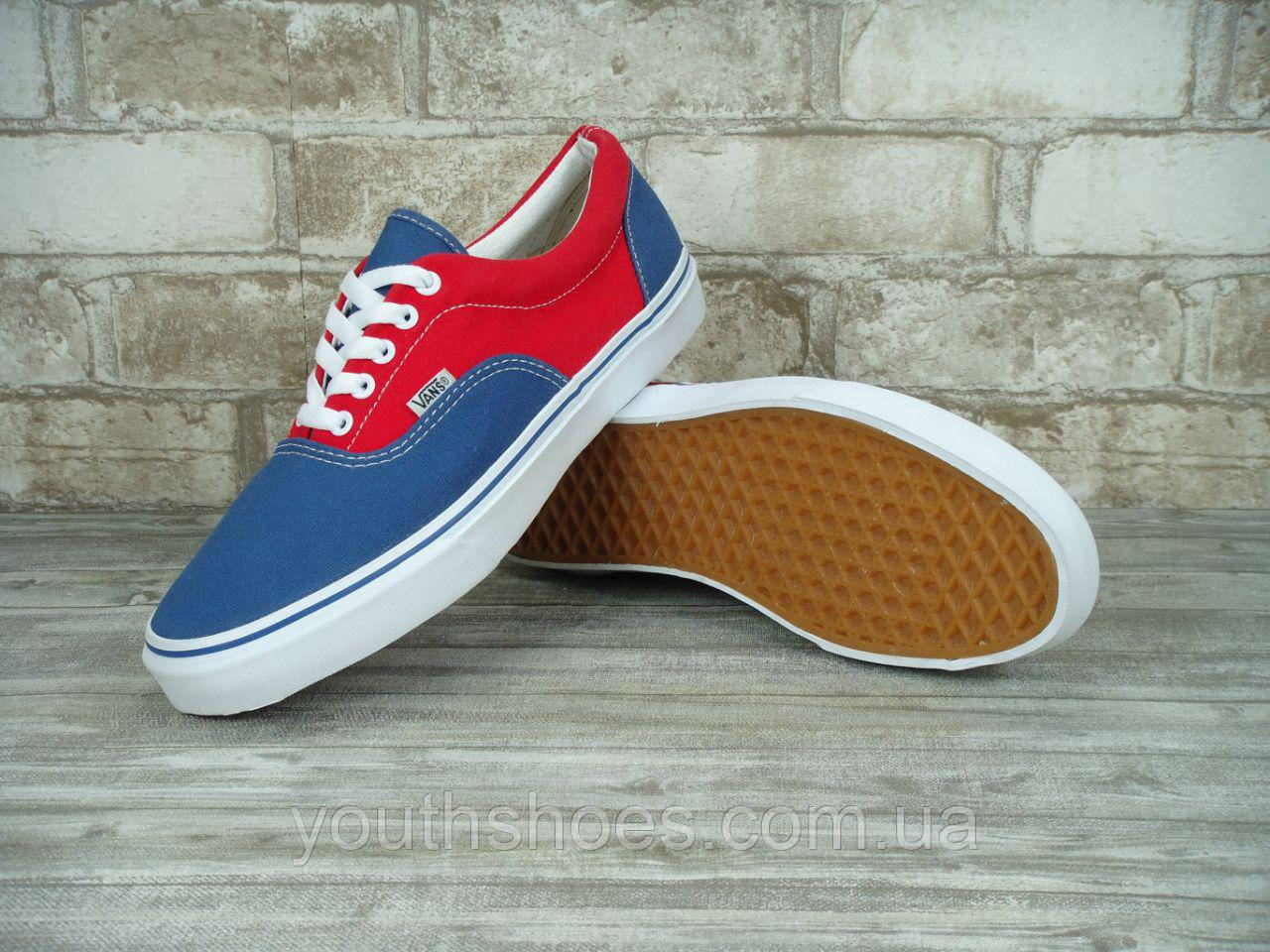 "Кеды текстильные мужские Vans  Era Red/Blue ""Красно-синие"" р. 9-10 (42-44), фото 1"
