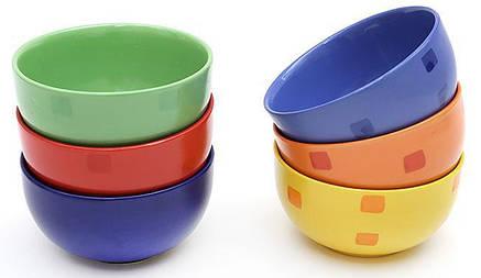Пиала керамическая 580мл, 6 цветов 301-008, фото 2