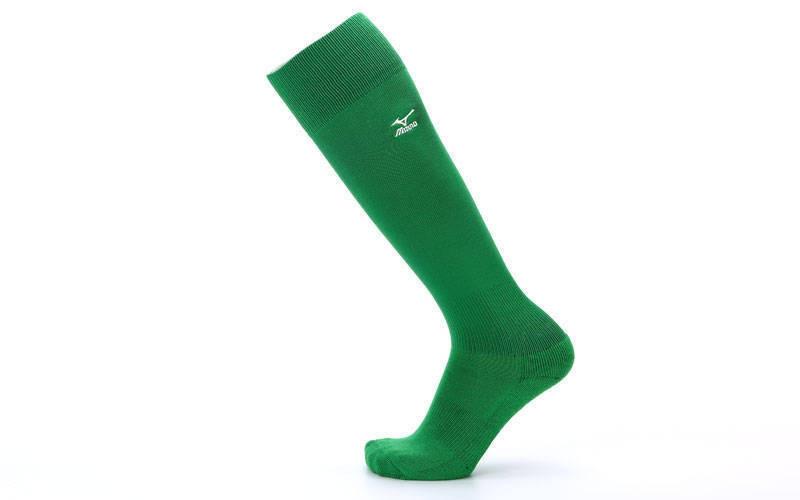 Гетры футбольные взрослые зеленые MIZUNO 95627-G (реплика)