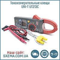 Токоизмерительные токовые клещи Uni-T UT-213С измеряют переменный ток, с термопарой