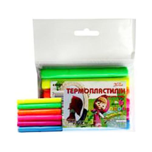 Термопластилін (полімерна глина), 6 кол., неон Імп