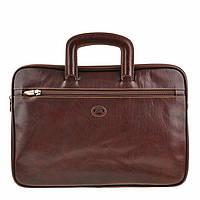 Папка-портфель Tony Perotti Italico 8090 moro кожаная коричневая для документов