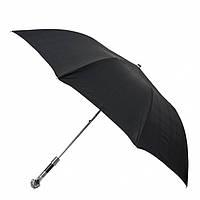 Зонт складной Pasotti 64S-6434/19 черный полуавтомат ручка в виде головы пса