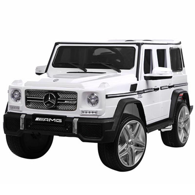 Електромобіль дитячий Mercedes Benz G65 AMG на пульті управління 2,4G, 2 мотори 35W, 12V10AH, білий