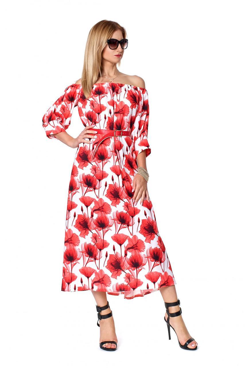13e5a4e0f37 ... Стильное летнее платье с цветочным принтом из летнего софта.