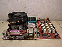 Мать 775 PM8M3-V+проц P4 3ГГц+кулер+2Гб код.кп2