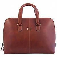 Сумка-портфель Tony Perotti Italico 8149 cognac кожаная коньячная для ноутбука до 17 дюймов