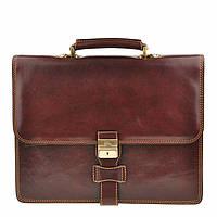 Портфель Tony Perotti Italico 8007 moro кожаный коричневый мужской
