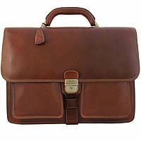 Портфель Tony Perotti Italico 8013/42 cognac кожаный коньячный мужской