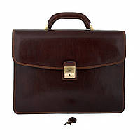 Портфель Tony Perotti Italico 8009/42 moro кожаный  коричневый мужской