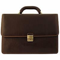 Портфель Tony Perotti Italico 8024 moro кожаный коричневый мужской