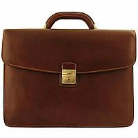 Портфель Tony Perotti Italico 8071 moro кожаный коричневый мужской (Частичная потеря товарного вида)