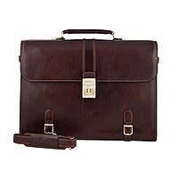 Портфель  Tony Perotti Italico 9156-42 moro кожаный коричневый мужской