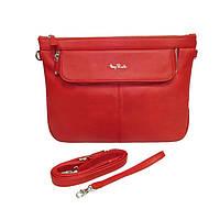 Портфель-папка Tony Perotti Contatto 9708 rosso кожаный  красный женский
