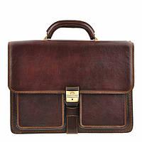 Портфель Tony Perotti Italico 8013/42 moro кожаный коричневый мужской