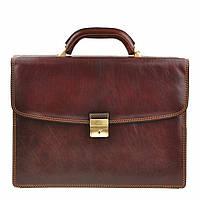 Портфель Tony Perotti Italico 8087 moro кожаный коричневый мужской