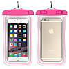 Водонепроницаемый чехол для смартфона Aqualight светящийся розовый