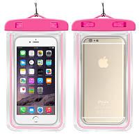 Водонепроницаемый чехол для смартфона Aqualight светящийся розовый, фото 1