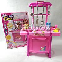 Детская игровая пластиковая кухня для девочки, плита 2 комфорки Cooking Shef