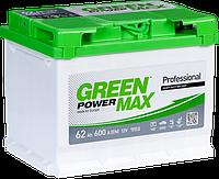 Аккумулятор GREEN POWER MAX 6СТ-62Ah 600A (1) левый +L