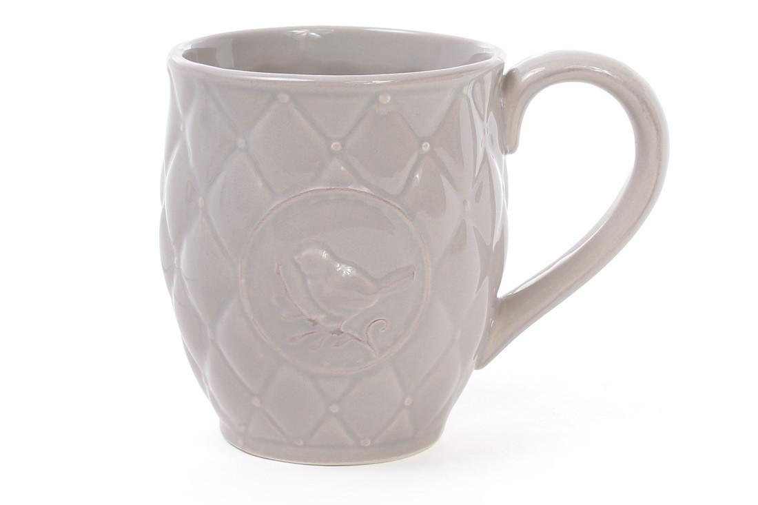 Кружка керамическая Птица 420мл, цвет бежевый 545-122