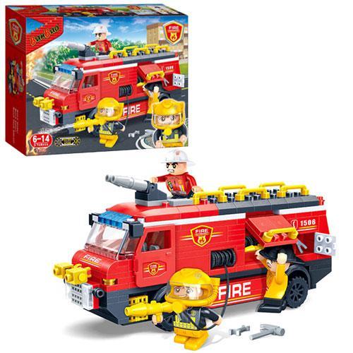 Конструктор BANBAO 7103  пожарная машина, фигурки 3шт, 288дет, в кор-к