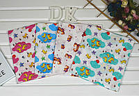 Детская цветная пеленка из ситца для мальчиков и девочек