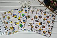 Детская цветная пеленка из фланели для мальчиков и девочек