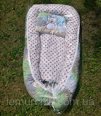 Гнездо для новорожденного 3 в 1 (подушка для беременной, подушка для кормления) + подушка, Цвет 3