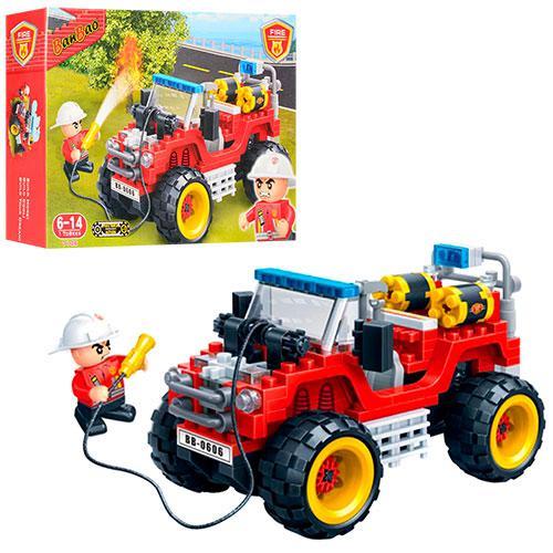 Конструктор BANBAO 7106  пожарная машина, фигурка 1шт, 148дет, в кор-к