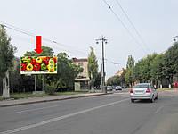 Щит г. Кировоград, Маркса К. ул. / ул. Василины, Юридический институт, в центр