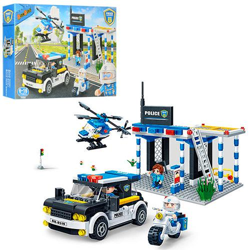 Конструктор BANBAO 7002  полицейский участок,машинка,вертолет,фигурки4