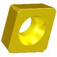 Пластина для фрезерной обработки SDCW, d=9.525 мм