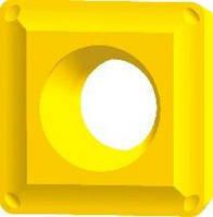 Пластина для фрезерной обработки SPMT, L=d=12.7 мм