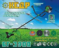 Бензокоса Кедр БГ-3900 ( 3 ножа+леска+паук) Мотокоса,Триммер Элтос