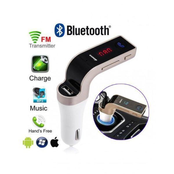Автомобильный FM трансмиттер модулятор CAR G7 Bluetooth, AUX, USB 12-24V