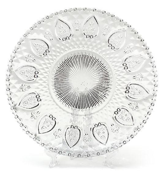 Тарелка десертная стеклянная 20см 543-119