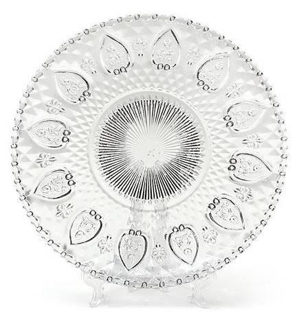 Тарелка десертная стеклянная 20см 543-119, фото 2