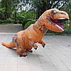 Надувной Костюм Динозавра (Тиранозавра, Костюм Тирекса) T-REX для взрослого Коричнево-оранжевый 220 см, фото 3