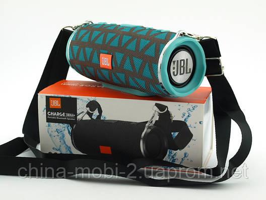 JBL Charge 3 mini A+ в стилі xtreme, портативна колонка з Bluetooth FM MP3, золото+м'ята, фото 2