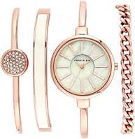 Часы женские наручные watch set AK gold white ANNE KLEIN